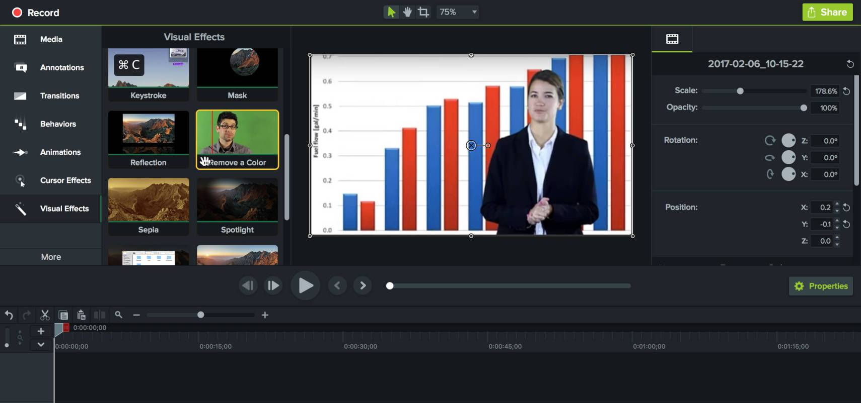 Marketing Video mit Greenscreen