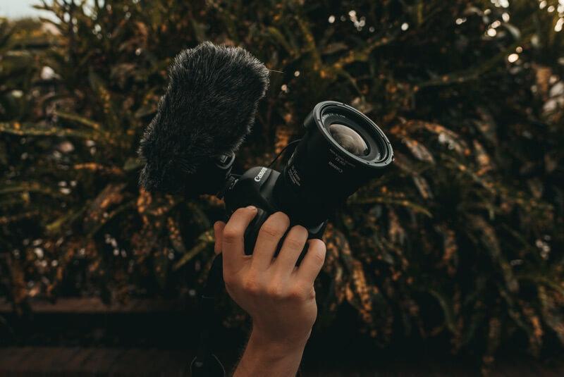 Kamera mit Mikrofon