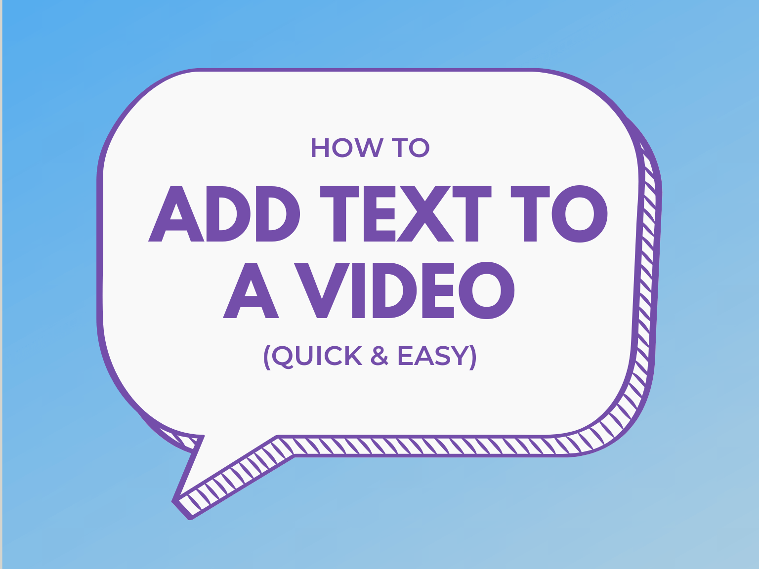 how to add text to a video