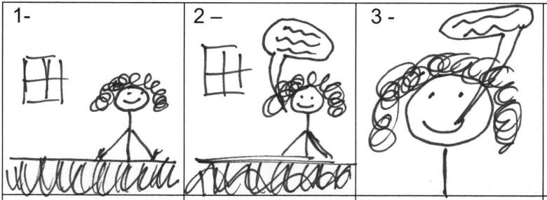 Erstellung eines Storyboards durch simple Skizzen.