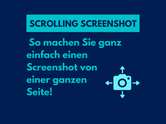 Scrolling Screenshot: So machen Sie ganz einfach einen Screenshot von einer ganzen Seite