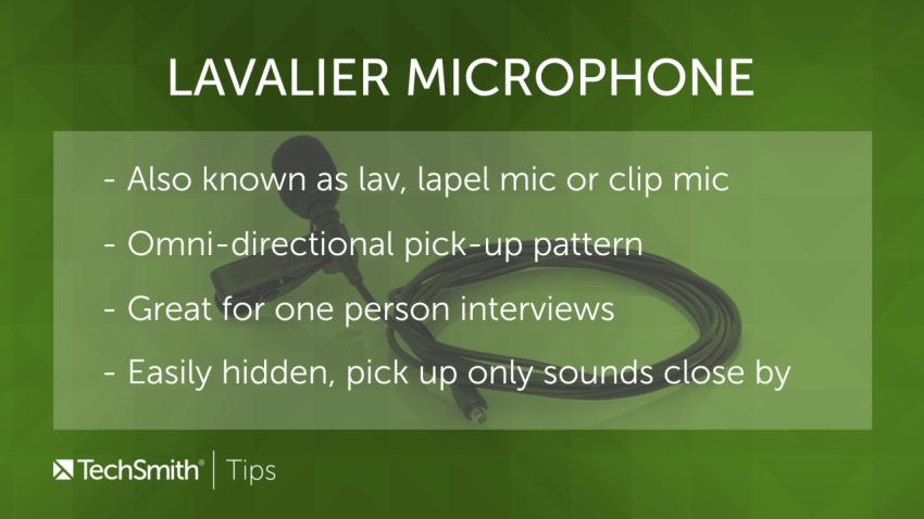 Informationen über Lavalier-Mikrofone